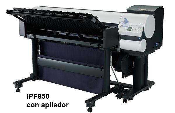 iPF850 con apilador