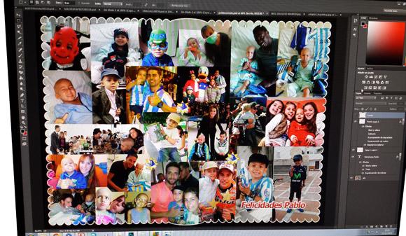 La colocación de imagenes en mosaico requiere seguir un patrón homogéneo para no acabar enmarañando la imagen global