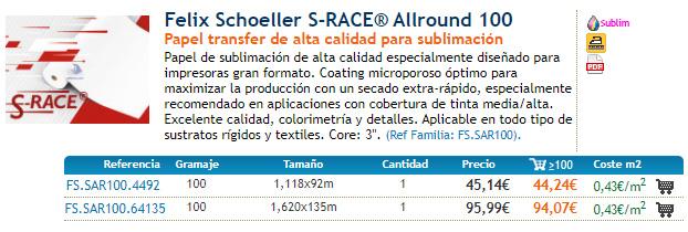Felix Schoeller S-RACE® Allround 100