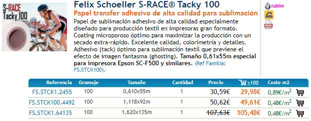 Felix Schoeller S-RACE® Tacky 100